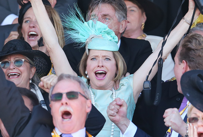 Gai Waterhouse winning Melbourne Cup 2013